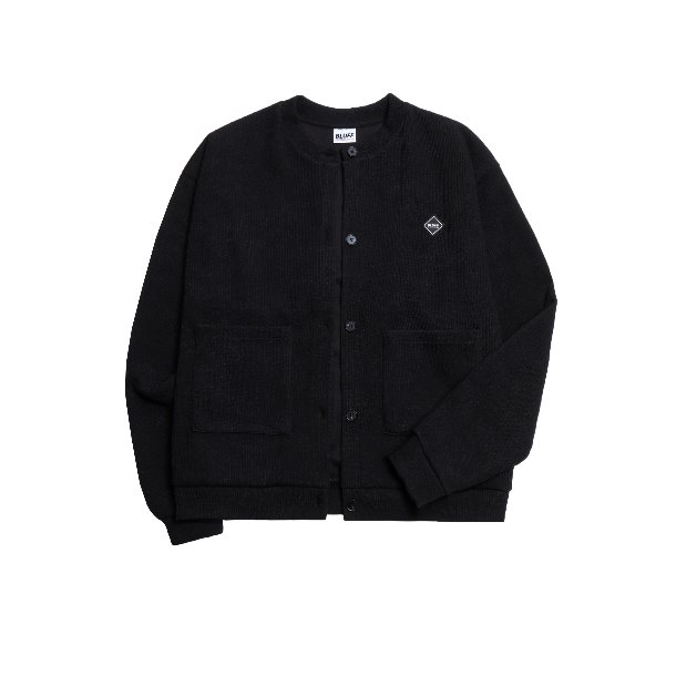 19FW KNIT FLEECE CARDIGAN [BLACK]