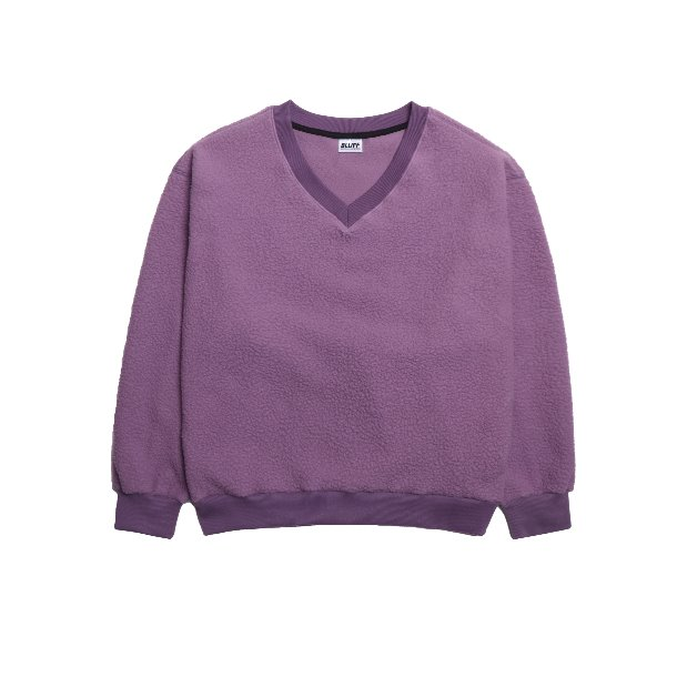 FLEECE V-NECK SWEAT [Purple]